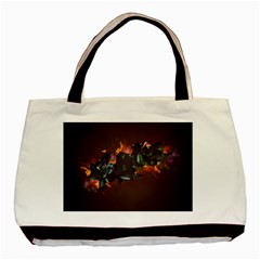 Abstraction Patterns Stripes  Basic Tote Bag by amphoto