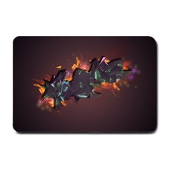 Abstraction Patterns Stripes  Small Doormat  by amphoto