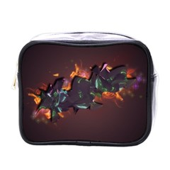 Abstraction Patterns Stripes  Mini Toiletries Bags by amphoto