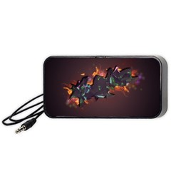 Abstraction Patterns Stripes  Portable Speaker (black) by amphoto