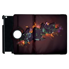 Abstraction Patterns Stripes  Apple Ipad 2 Flip 360 Case by amphoto