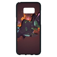 Abstraction Patterns Stripes  Samsung Galaxy S8 Plus Black Seamless Case by amphoto
