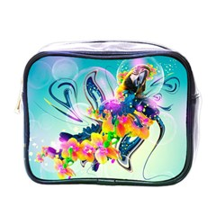 Parrot Abstraction Patterns Mini Toiletries Bags by amphoto