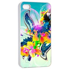 Parrot Abstraction Patterns Apple Iphone 4/4s Seamless Case (white) by amphoto