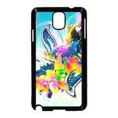 Parrot Abstraction Patterns Samsung Galaxy Note 3 Neo Hardshell Case (black) by amphoto