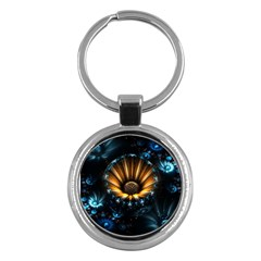 Fractal Flowers Abstract  Key Chains (round)  by amphoto