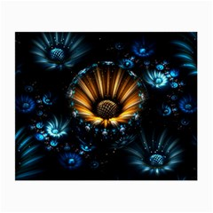 Fractal Flowers Abstract  Small Glasses Cloth (2 Side) by amphoto