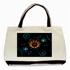 Fractal Flowers Abstract  Basic Tote Bag (two Sides) by amphoto