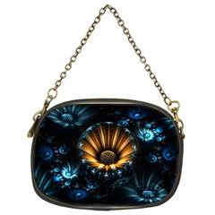 Fractal Flowers Abstract  Chain Purses (two Sides)  by amphoto