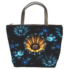 Fractal Flowers Abstract  Bucket Bags by amphoto