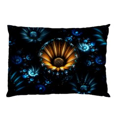 Fractal Flowers Abstract  Pillow Case (two Sides) by amphoto