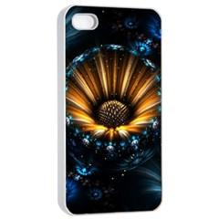 Fractal Flowers Abstract  Apple Iphone 4/4s Seamless Case (white) by amphoto