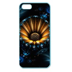 Fractal Flowers Abstract  Apple Seamless Iphone 5 Case (color) by amphoto