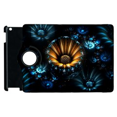 Fractal Flowers Abstract  Apple Ipad 2 Flip 360 Case by amphoto