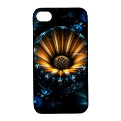 Fractal Flowers Abstract  Apple Iphone 4/4s Hardshell Case With Stand by amphoto
