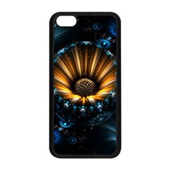 Fractal Flowers Abstract  Apple Iphone 5c Seamless Case (black) by amphoto
