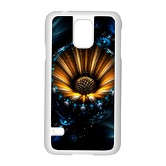 Fractal Flowers Abstract  Samsung Galaxy S5 Case (white) by amphoto