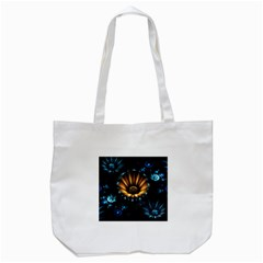 Fractal Flowers Abstract  Tote Bag (white) by amphoto
