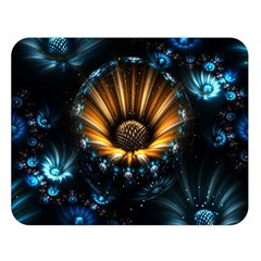 Fractal Flowers Abstract  Double Sided Flano Blanket (large)  by amphoto