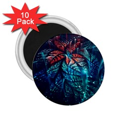 Fractal Flower Shiny  2 25  Magnets (10 Pack)  by amphoto
