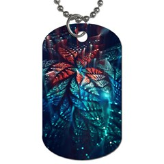 Fractal Flower Shiny  Dog Tag (one Side) by amphoto