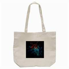 Fractal Flower Shiny  Tote Bag (cream) by amphoto
