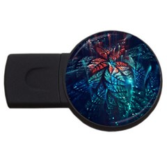 Fractal Flower Shiny  Usb Flash Drive Round (4 Gb) by amphoto