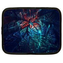 Fractal Flower Shiny  Netbook Case (xl)  by amphoto