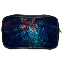Fractal Flower Shiny  Toiletries Bags by amphoto