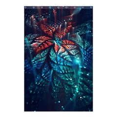 Fractal Flower Shiny  Shower Curtain 48  X 72  (small)  by amphoto