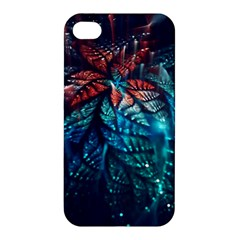 Fractal Flower Shiny  Apple Iphone 4/4s Premium Hardshell Case by amphoto