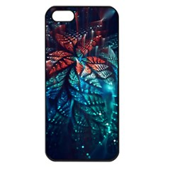 Fractal Flower Shiny  Apple Iphone 5 Seamless Case (black) by amphoto