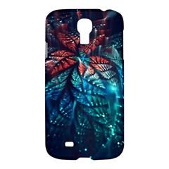 Fractal Flower Shiny  Samsung Galaxy S4 I9500/i9505 Hardshell Case by amphoto