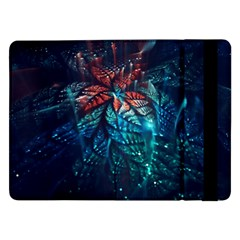 Fractal Flower Shiny  Samsung Galaxy Tab Pro 12 2  Flip Case by amphoto