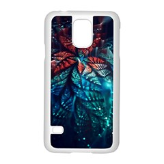 Fractal Flower Shiny  Samsung Galaxy S5 Case (white) by amphoto