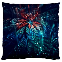 Fractal Flower Shiny  Large Flano Cushion Case (two Sides) by amphoto