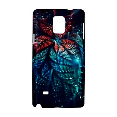Fractal Flower Shiny  Samsung Galaxy Note 4 Hardshell Case by amphoto