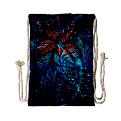 Fractal Flower Shiny  Drawstring Bag (small) by amphoto