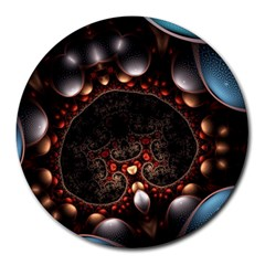 Pattern Fractal Abstract 3840x2400 Round Mousepads by amphoto