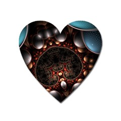 Pattern Fractal Abstract 3840x2400 Heart Magnet by amphoto