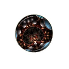 Pattern Fractal Abstract 3840x2400 Hat Clip Ball Marker (4 Pack) by amphoto
