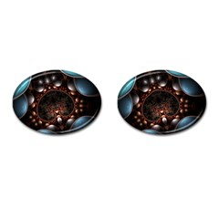 Pattern Fractal Abstract 3840x2400 Cufflinks (oval) by amphoto