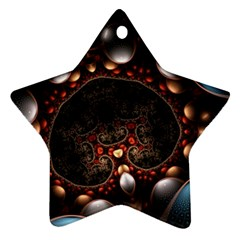 Pattern Fractal Abstract 3840x2400 Star Ornament (two Sides)