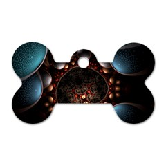 Pattern Fractal Abstract 3840x2400 Dog Tag Bone (one Side) by amphoto
