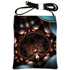 Pattern Fractal Abstract 3840x2400 Shoulder Sling Bags by amphoto