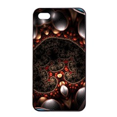 Pattern Fractal Abstract 3840x2400 Apple Iphone 4/4s Seamless Case (black) by amphoto