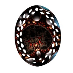 Pattern Fractal Abstract 3840x2400 Oval Filigree Ornament (two Sides) by amphoto