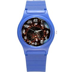 Pattern Fractal Abstract 3840x2400 Round Plastic Sport Watch (s) by amphoto