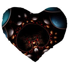 Pattern Fractal Abstract 3840x2400 Large 19  Premium Heart Shape Cushions by amphoto