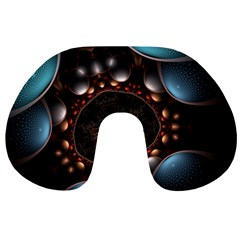 Pattern Fractal Abstract 3840x2400 Travel Neck Pillows by amphoto